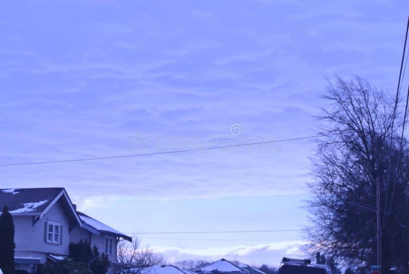 Neve no céu fotografia de stock