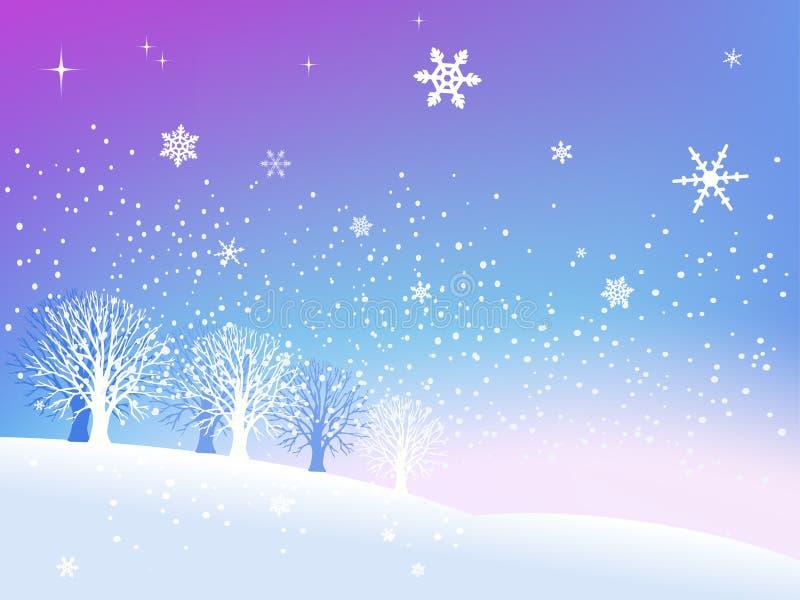Neve no inverno ilustração royalty free