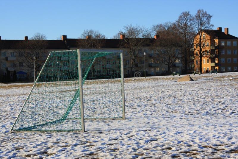 Neve no parque imagem de stock royalty free