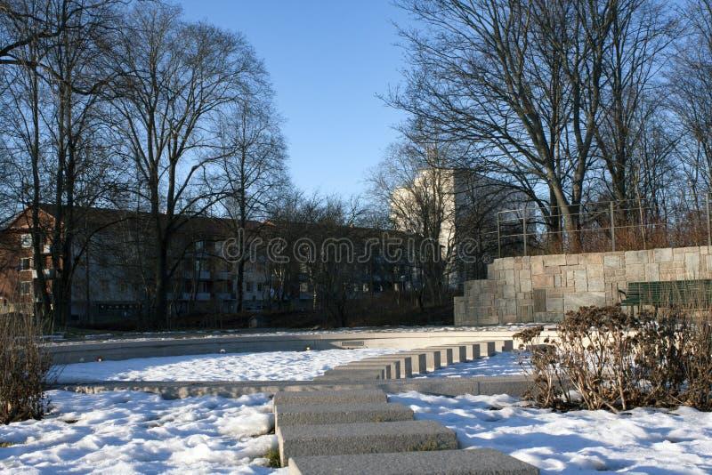 Neve no parque foto de stock royalty free