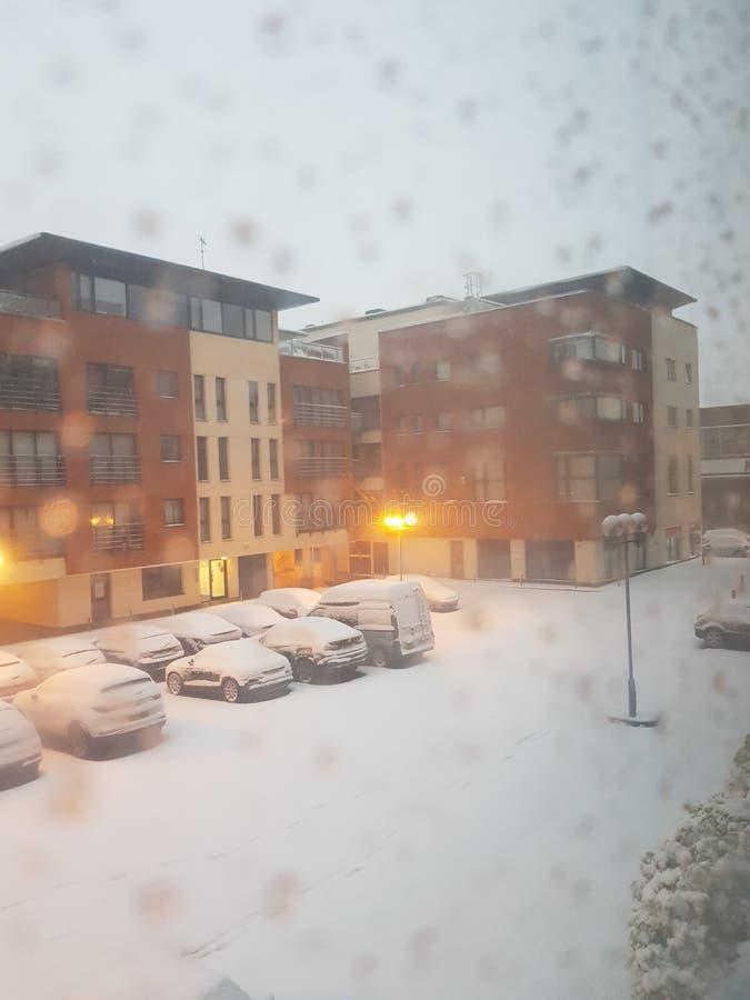 Neve no Reino Unido fotografia de stock