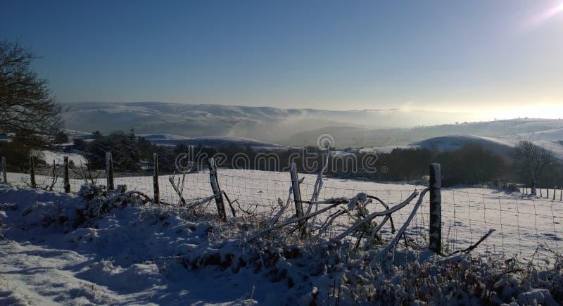 Neve no Stiperstones fotografia de stock