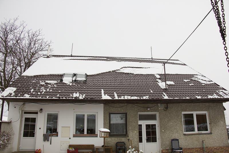 Neve no telhado foto de stock royalty free