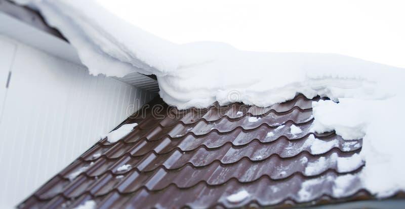 Neve no telhado foto de stock