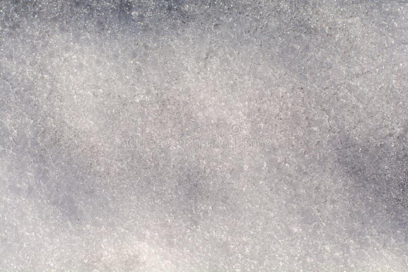 Neve in pieno delle goccioline del ghiaccio fotografia stock