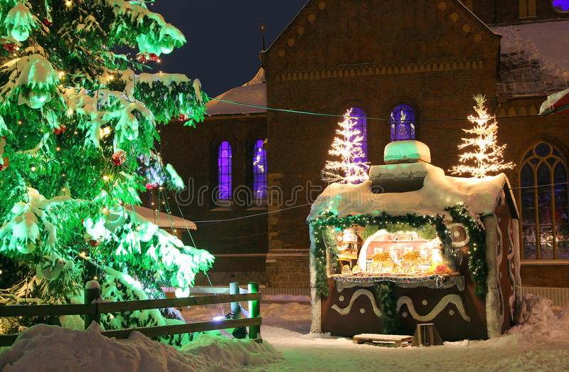 Neve a Riga fotografie stock