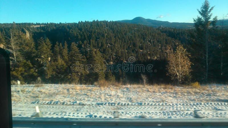 Neve a settembre fotografia stock