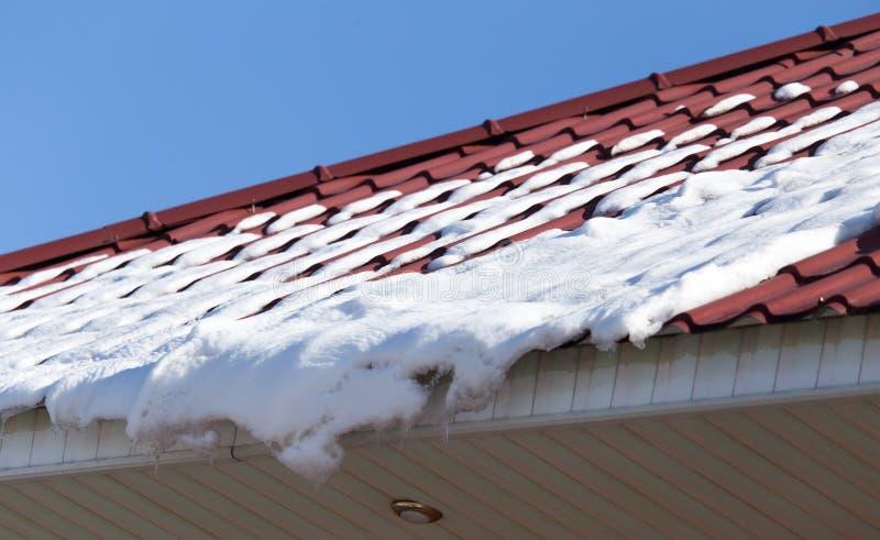 Neve sul tetto fotografia stock libera da diritti