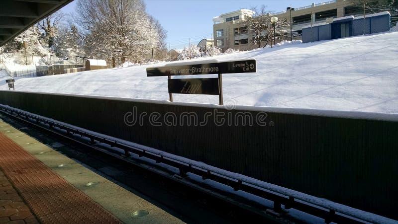 Neve sulla terza rotaia immagine stock
