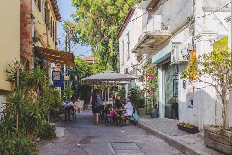 Neve Tzedek, Tel Aviv, Israele immagini stock libere da diritti