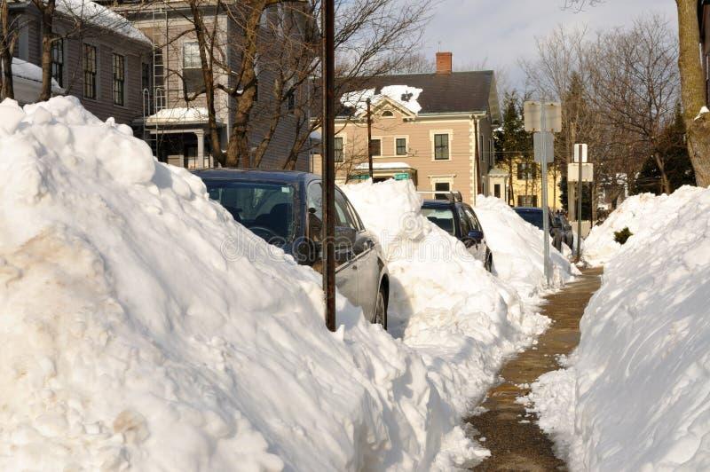 Neve urbana foto de stock