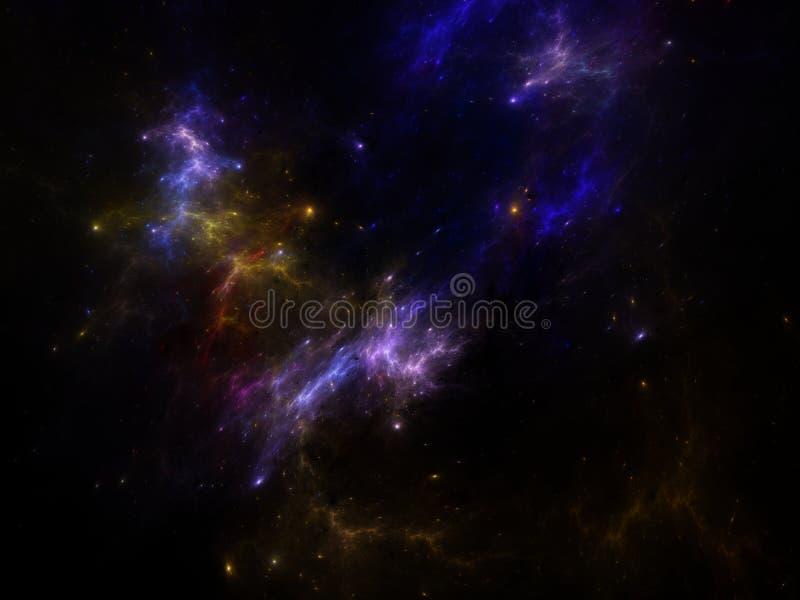 Nevel en melkwegen in diep heelal stock illustratie