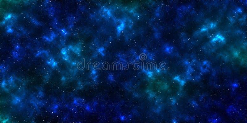 Nevel en sterren in kosmische ruimte stock afbeelding
