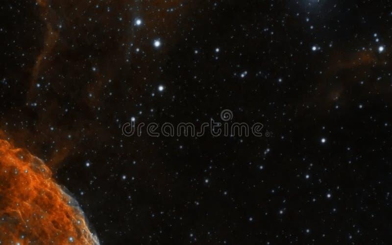 Nevel op ruimteachtergrond stock fotografie
