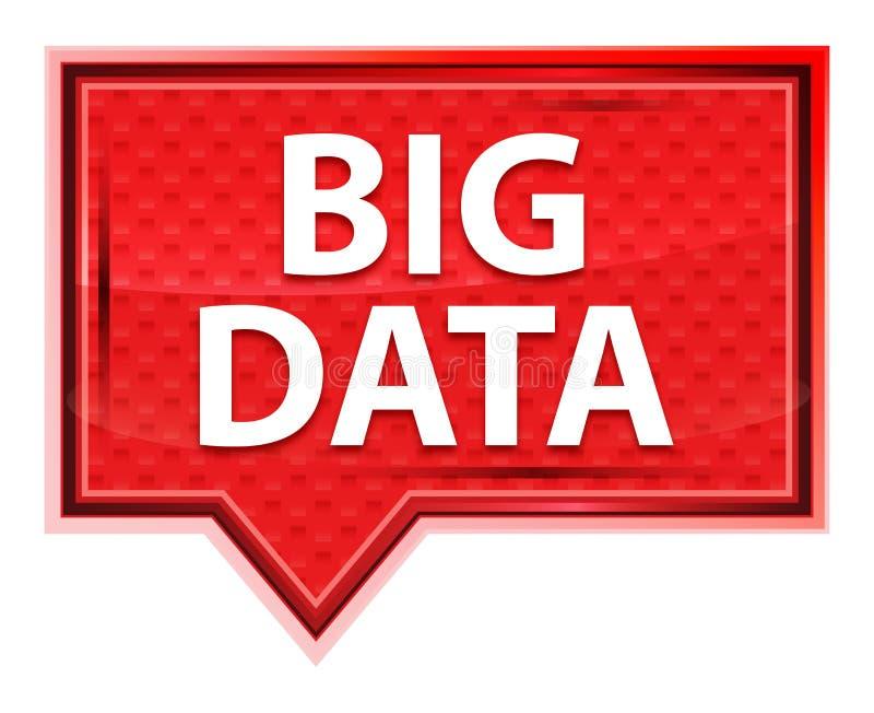 Nevelig Big Data nam roze bannerknoop toe vector illustratie