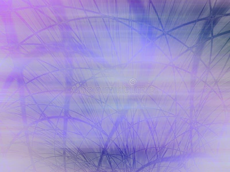 Nevelige Blauwe Mist met Gras royalty-vrije stock afbeeldingen