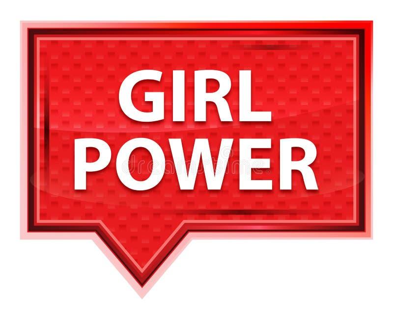 Nevelige meisjes de Macht nam roze bannerknoop toe royalty-vrije illustratie