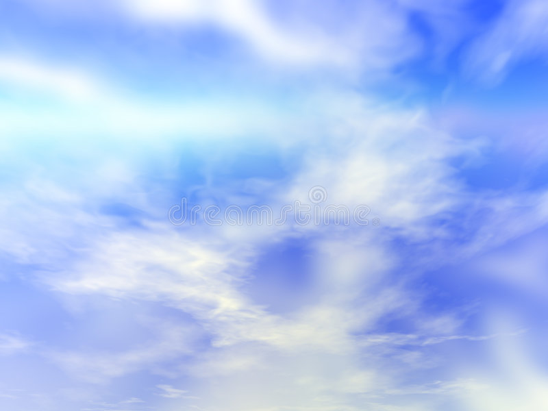 Nevelige Wolken royalty-vrije stock foto