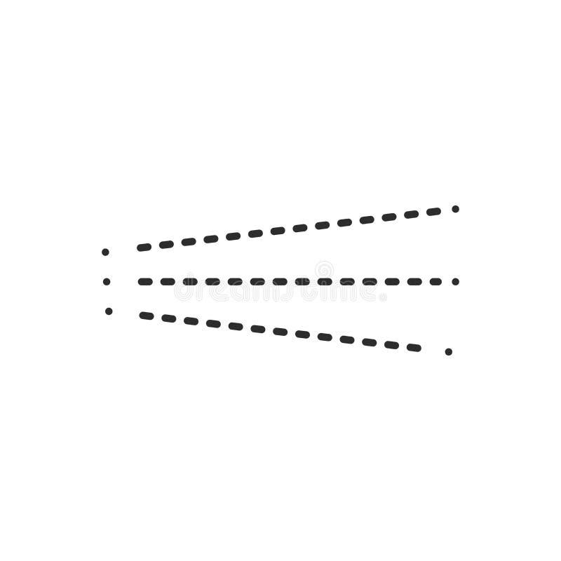 Nevelpictogram Eenvoudige zwarte vloeibare nevel, vectordieillustratie op witte achtergrond wordt geïsoleerd stock illustratie
