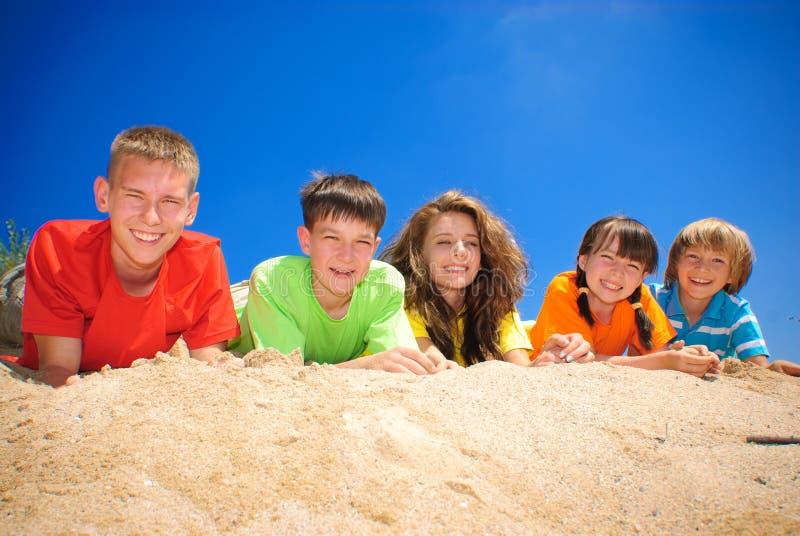 Neven op zand stock foto