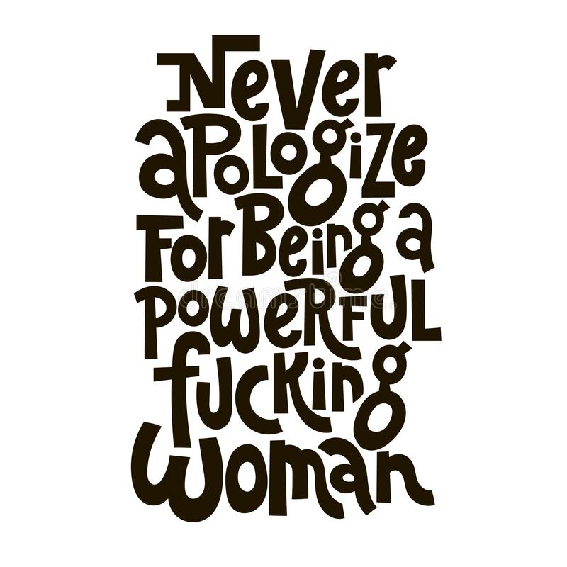 Girl power quotes royalty free illustration