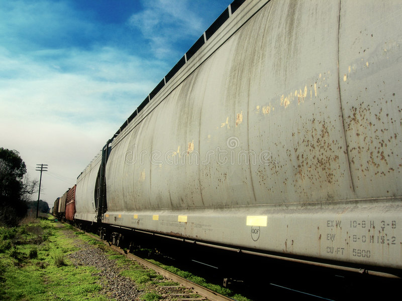 Download Never-Ending Train stock photo. Image of disappears, heavy - 935068
