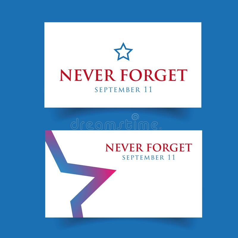 Never forget - September eleven vector illustration