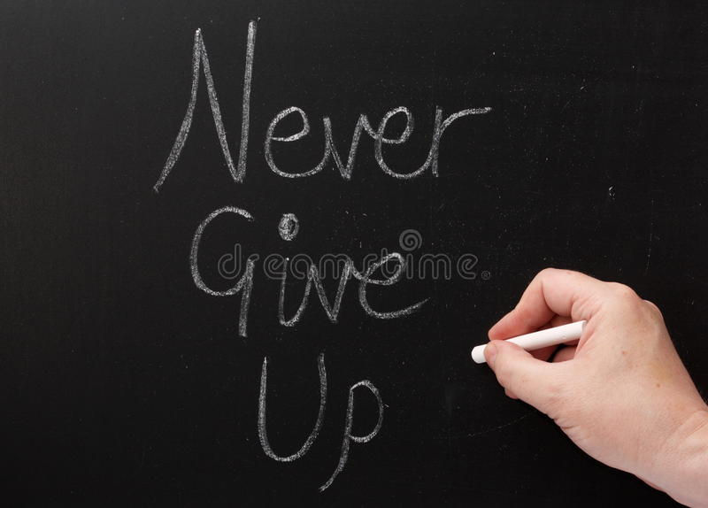 Never Give Up royalty free stock images