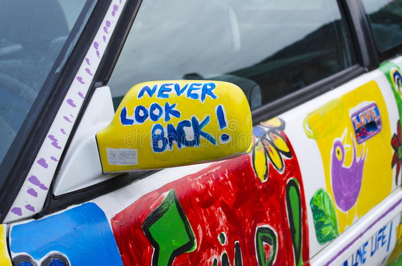Never Look Back stock photo