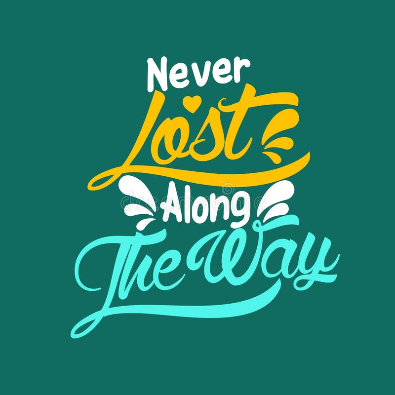 Never Lost Along The Way. S stock illustration