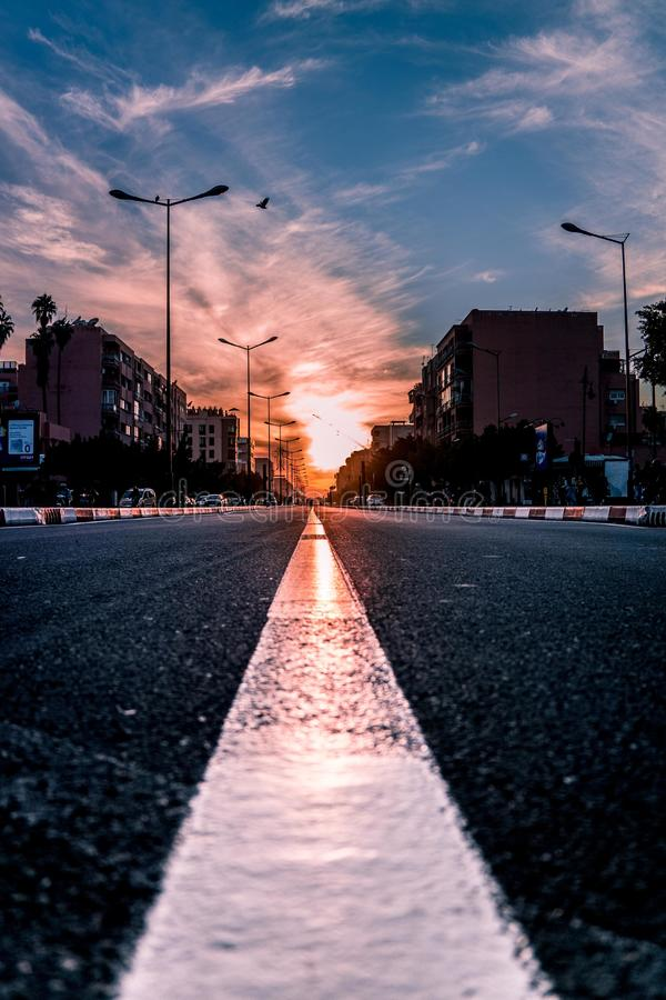 Never miss the sun set in Marrakesh morocco royalty free stock photography