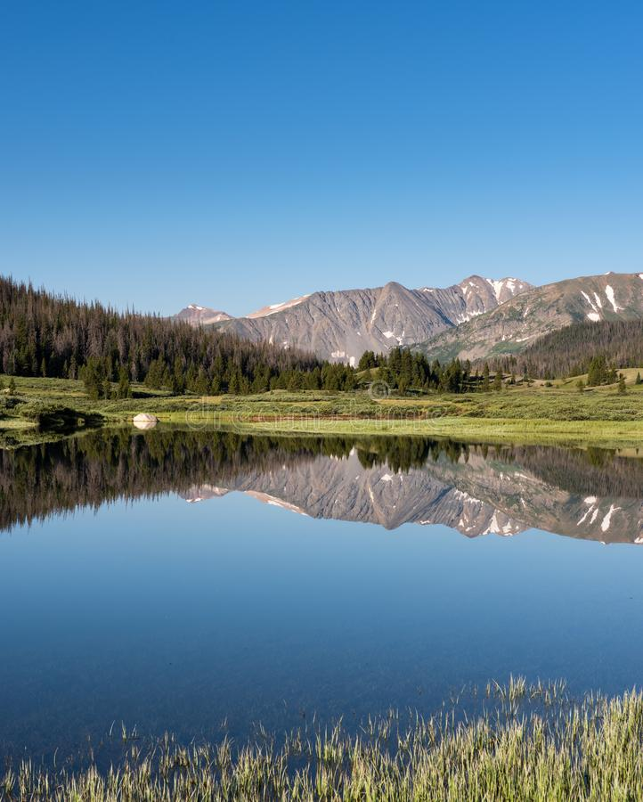 Grand View of the Never Summer Range in Northern Colorado royalty free stock photos