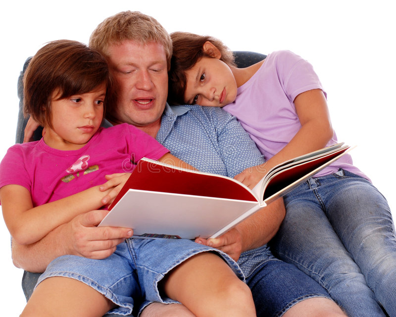 Never Too Old For A Story Royalty Free Stock Photos