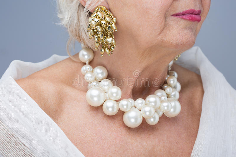 Never too old to be elegant royalty free stock photos