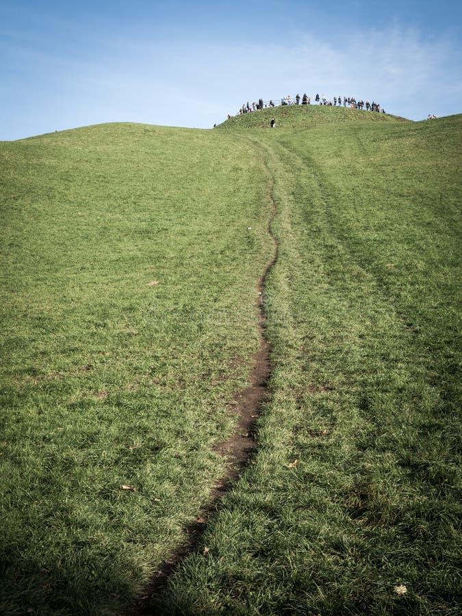 Neverending uphill stock photography