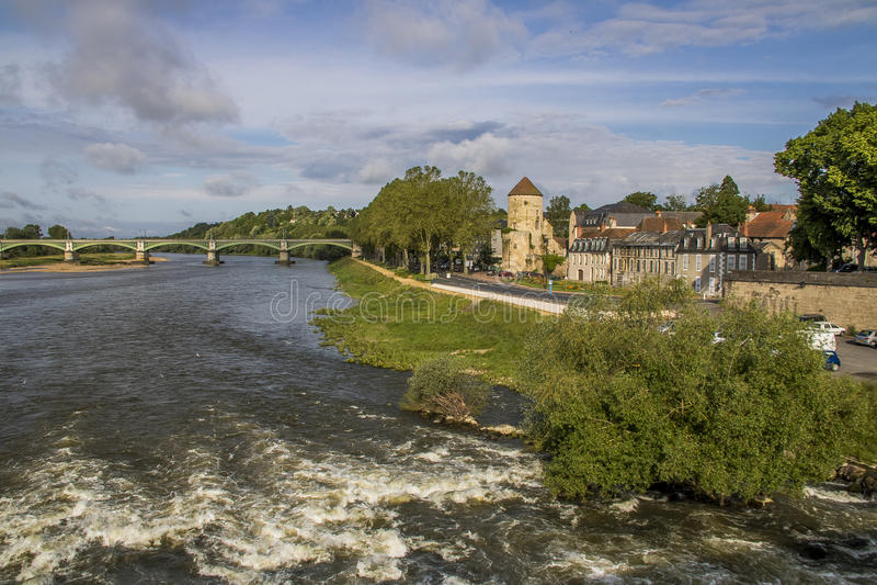 Nevers, Borgoña, Francia fotografía de archivo