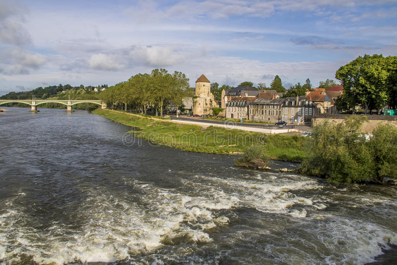 Nevers, Bourgogne, Frankrijk royalty-vrije stock afbeelding