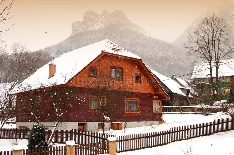 Nevicata vicino da Rozutec grande immagini stock libere da diritti