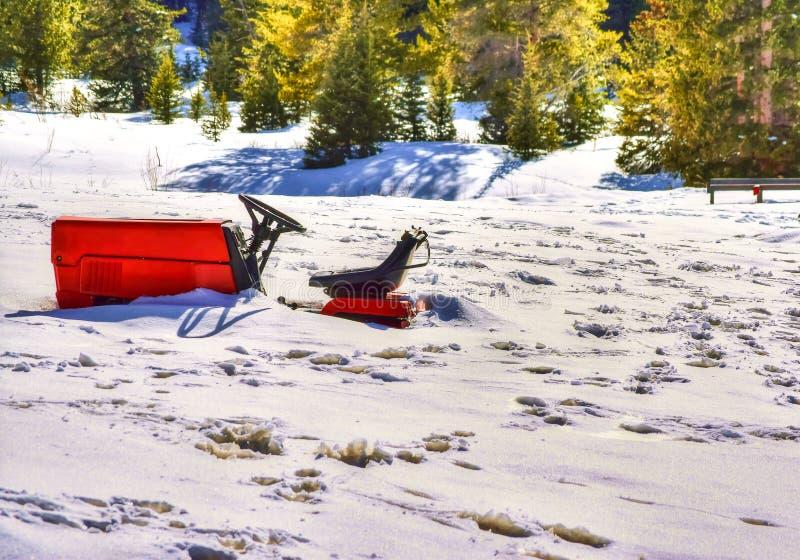 Nevicato dentro fotografia stock libera da diritti