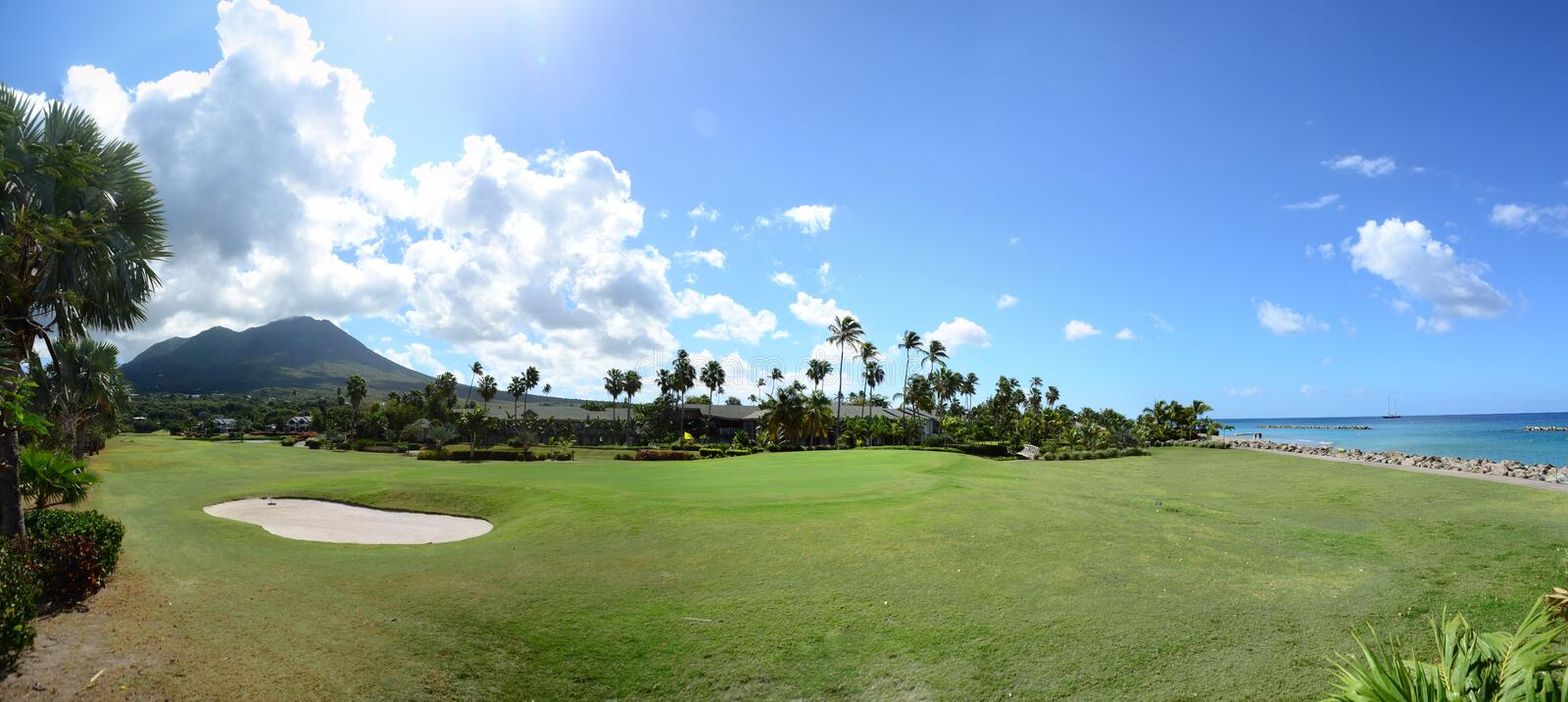 Download Nevis Peak In The Background Of The Golf Course Stock Photo - Image: 29607250