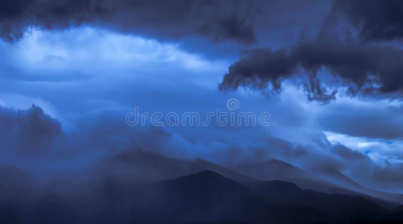 Dramatic sky and Nevis Range, Scotland stock photos