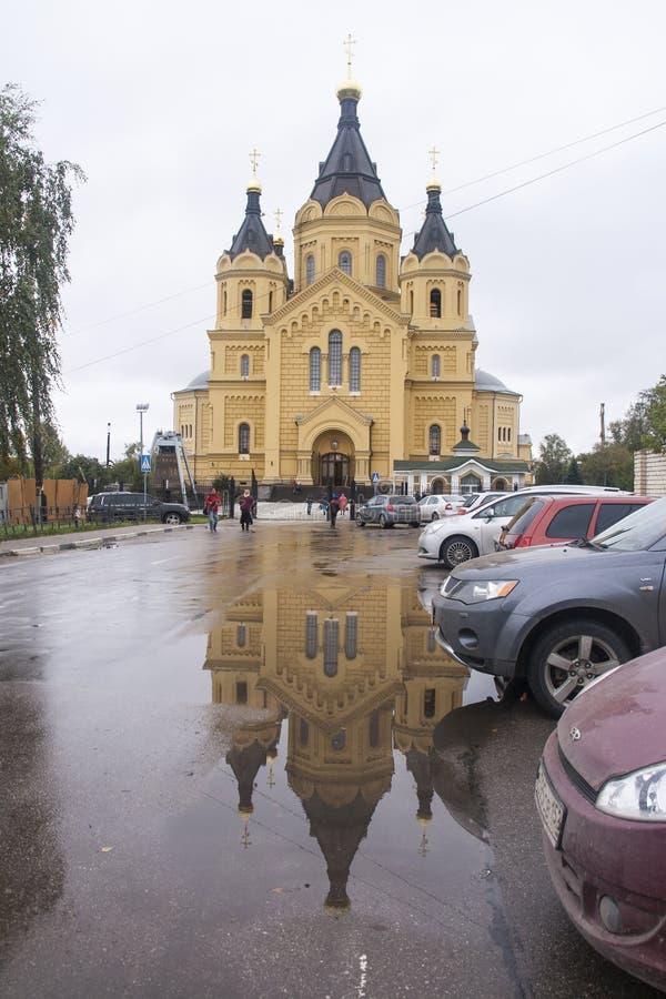 Nevski de St, cathédrale d'Alexandre dans Nijni-Novgorod, Fédération de Russie image stock