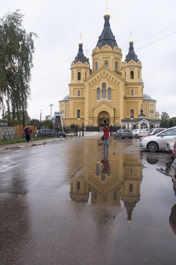 Nevski de St, cathédrale d'Alexandre dans Nijni-Novgorod, Fédération de Russie images libres de droits