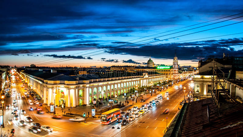 Nevsky Avenue royalty free stock images