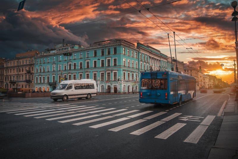 Nevsky prospekt - główna ulica St Petersburg obraz stock