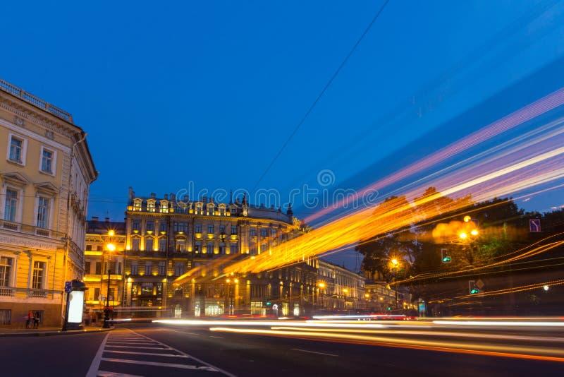 Nevsky Prospekt, St. Petersburg, Rusland stock foto's