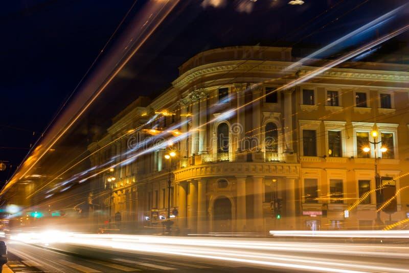 Nevsky Prospekt, St. Petersburg, Rusland stock afbeeldingen