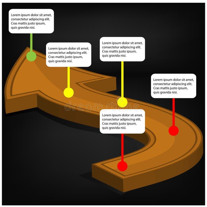 Arrow infographics design template. Vector illustration. royalty free illustration