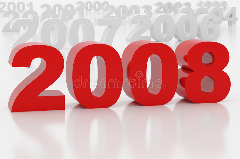 Download New 2008 year stock illustration. Image of decorative - 3830045
