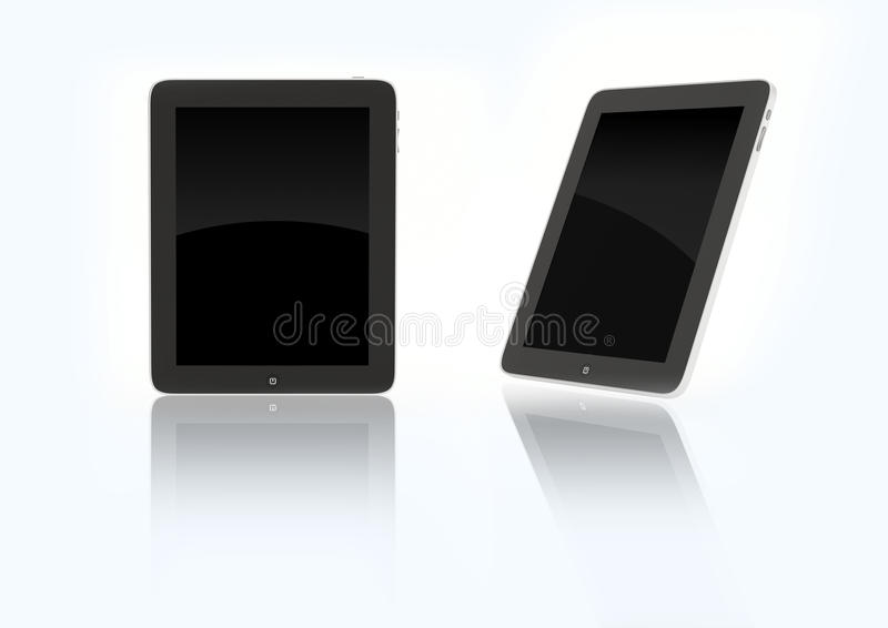 New 2010 ipad device. 3d isolated on white background objects with copyspace vector illustration